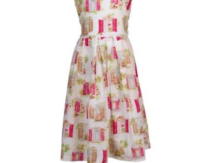 שמלה מסתובבת על רקע שמנת חגורה מאחור - אייקון