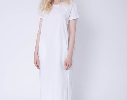 שמלת צווארון ריב, שמלה לבנה, שמלה מידי, שמלה עם שרוול קצר, שמלה שחורה