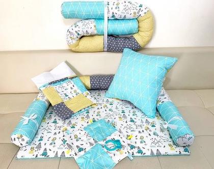 מארז ליולדת | מארז לידה | סט ליולדת | סט ללידה | מתנת לידה | סט למיטת תינוק | נחשוש | שמיכה | משטח החתלה | כרית