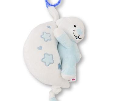 מובייל מנגן לתינוק | דובי מנגן | מתנה לתינוק | מתנה ליולדת | דובי תכלת|