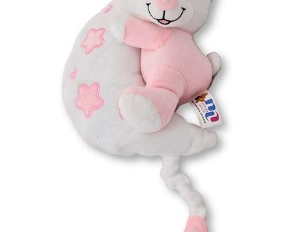 מובייל מנגן לתינוק | דובי מנגן | מתנה לתינוק | מתנה ליולדת | דובי ורוד|