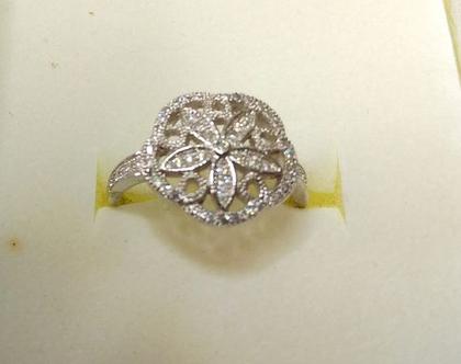 טבעת קוקטייל כסף סילברפילד לוטוס מידה 7