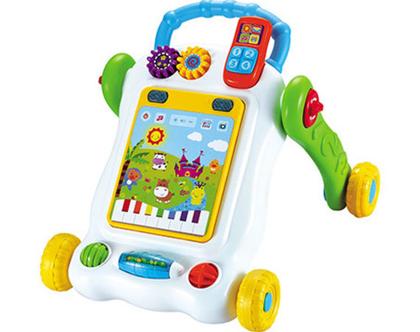 הליכון מחשב לתינוקות עם לוח משחק לפיתוח מיומנויות מוטוריות המעודדת הליכה