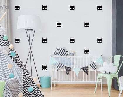 מדבקות קיר לחדר ילדים | מדבקות קיר בטמן | מדבקות קיר חדר בנים | עיצוב חדרי ילדים | מדבקות לחדר תינוקות | מדבקות ויניל | מדבקות קיר
