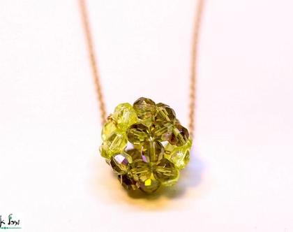 תליון כדור ירוק, שרשרת גולדפילד, תליון עגול מחרוזים, תליון מיוחד, תליון שזור, שרשרת מיוחדת