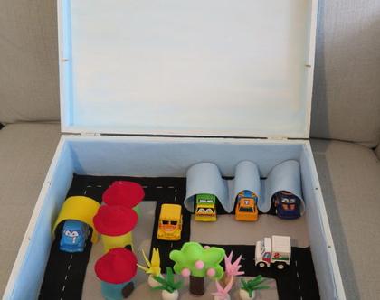 משחק קופסה , צעצוע , מכוניות לילדים , מתנה לילדים