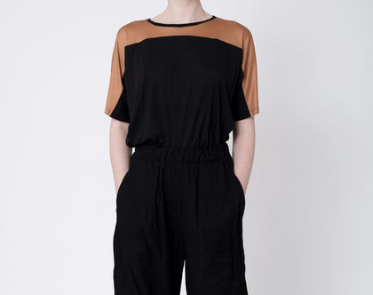 מכנסי גומי מתרחבים, מכנסי 7/8, מכנסיים מתרחבים, מכנסיים לבנים, מכנסיים שחורים