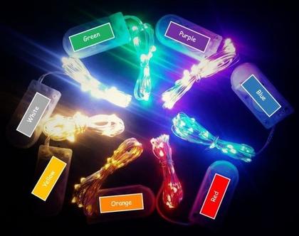 שרשרת נורות לד (LED) במגוון צבעים 2 מטר