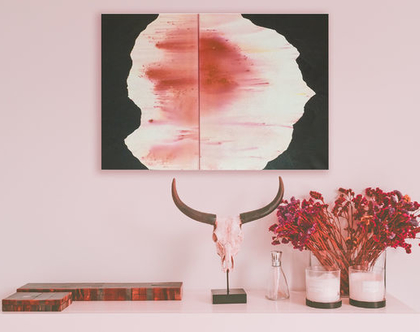 ציור אבסטרקט על קנבס - עבודה מקורית לעיצוב הבית