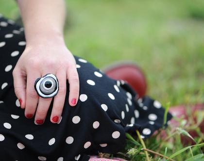 טבעת שחור לבן