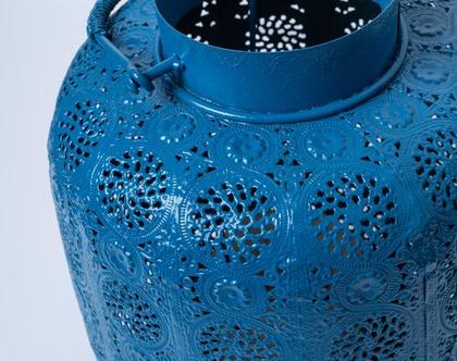 עשששית מרוקו גדולה בצבע כחול