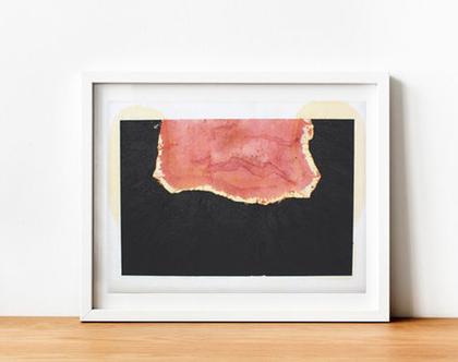 ציור שמן אבסטקרט על נייר