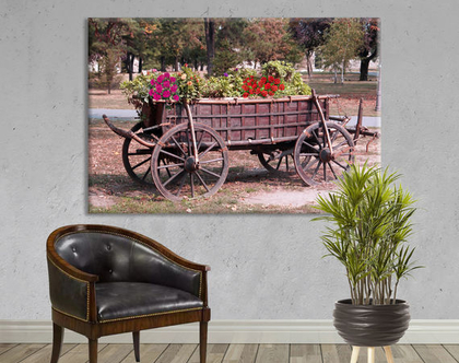 תמונת קנבס ♥ כרכרה ישנה - old carriage | תמונת old carriage | תמונה מיוחדת של כרכרה ישנה