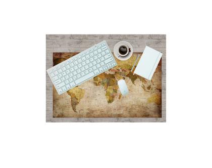 פד לעכבר - מפת העולם | מתנה לגבר | מתנה למשרד | משטח לעכבר | מפת העולם