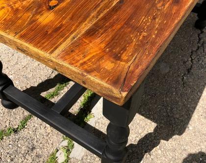 שולחן סלון מלבני -מעץ מלא