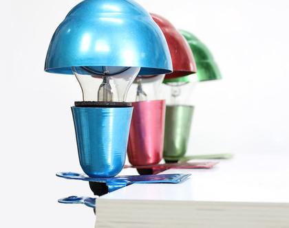 מנורת מדף וינטאג׳ צבעונית, מנורת מדף קטנה, מנורת לילה צבעונית