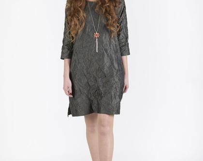 שמלת טאפט בגוון חאקי-דגם מרייטס