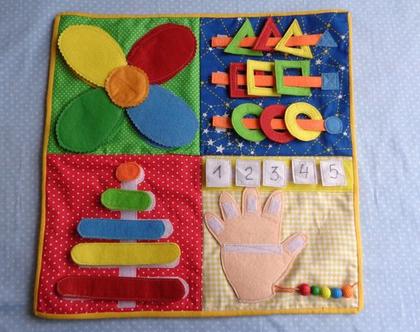 משטח פעילות / משחקי פעילות לגילאי 1-3 / שטיחון פעילות / ספר שקט / מתנה לילד / מתנה לילדה / מתנת סוף שנה