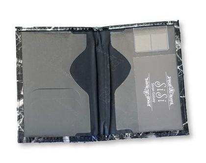 כיסוי לדרכון דמוי עור אבן שחור