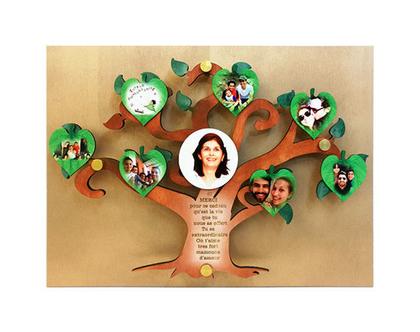 עץ משפחה עם תמונות לתלייה על הקיר