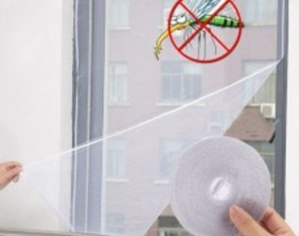 """רשת נגד יתושים להתקנה עצמית   200*150 ס""""מ"""
