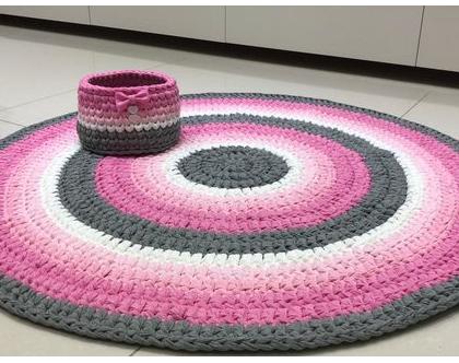 שטיח טריקו לחדרי תינוקות וילדים | שטיחים לחדרי ילדים | שטיח סרוג לחדר ילדים