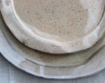 סט צלחות - קרמיקה עבודת יד