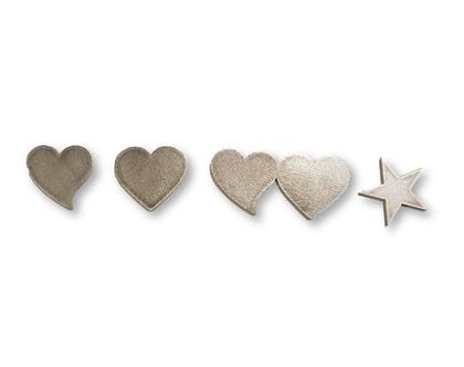 קישוטים לדלת כניסה   לשלט כניסה   לב   לב נטוי   זוג לבבות   כוכב  