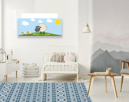 שטיח פי.וי.סי - Nordic design-2| שטיח לחדר של ילד | עיצוב נורדי | שטיח כחול לבן | שטיחי פי.וי.סי מעוצבים| שטיחים לבית|שטיח כחול ולבן