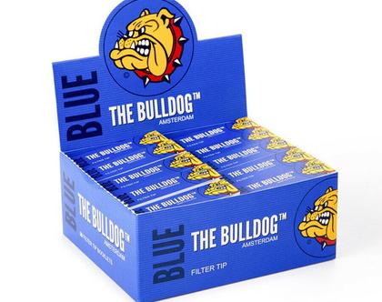 חבילה (50 יחידות) פילטר דק של חברת בולדוג צבע כחול
