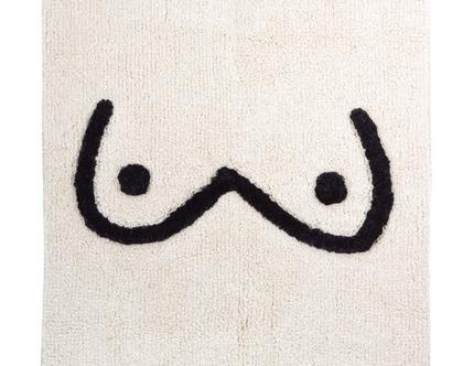 שטיח אמבטיה מכותנה באיור ציצי SOFI | KITSCH KITCHEN