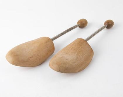זוג אימומי עץ עם קפיץ מתכת