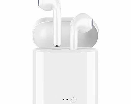 אוזניות שמע איכותיות אלחוטיות בלוטוס צבע לבן לכל מטרה