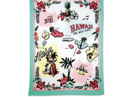 SOFI | KITSCH KITCHEN מגבת כותנה הוואי.