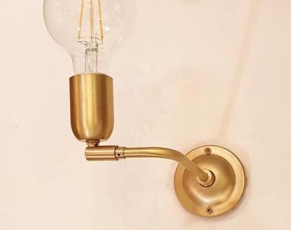 מנורת קיר דגם הניה זהב קצר   Henya gold   Wall lamp by Talia
