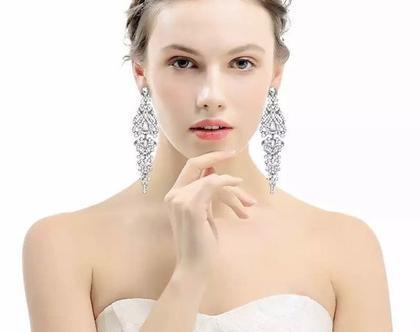 עגילים לאישה, עגילים נופלים, עגילים תלויים, מתנה לאישה, עגילים לכלה, עגילים לחתונה, עגילים לאירוע