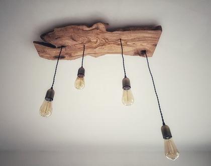גוף תאורה מפרוסת עץ זית