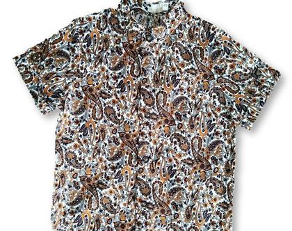 חולצה פרחונית צוארון סיני
