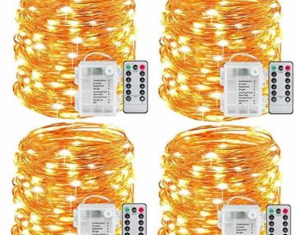 סט 4 יחידות סרטי לד 5מ × 4 לבית או לכל מטרה 2 צבעים לבחירה שליטה מרחוק