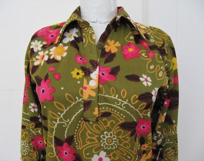 חולצת וינטג' פרחונית
