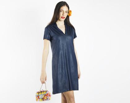 שמלת מיני כחולה לאירוע