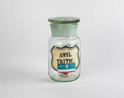 בקבוק בית מרקחת עשוי זכוכית - Amyl. Tritic.