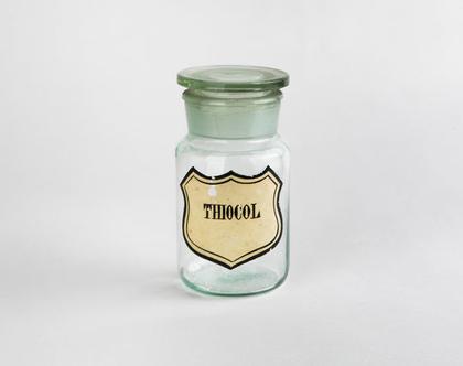 בקבוק בית מרקחת עשוי זכוכית - Thiocol