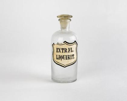 בקבוק בית מרקחת עשוי זכוכית - Extr. Fl. Liquirit