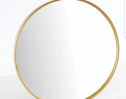 מראה עגולה זהב בגדלים שונים