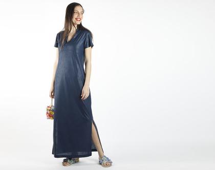 שמלת מקסי כחולה לאירוע