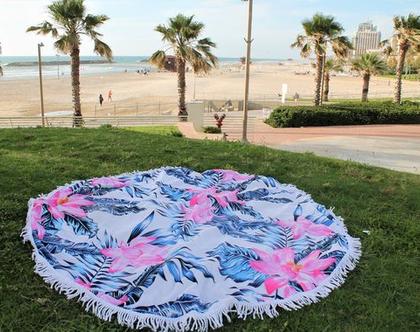 לונג מגבת חוף איכותית ומגניבה