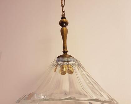 מנורת תלייה מזכוכית   דגם skirt mot   גוף תאורה מזכוכית