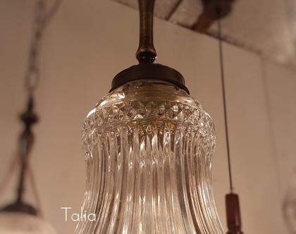 מנורת תלייה מזכוכית   דגם Adaya   גוף תאורה תלוי מזכוכית