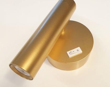 מנורת קריאה   דגם Gold minimal   גוף תאורה לקיר